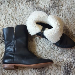Kate Spade Saturday Shearling leather boot